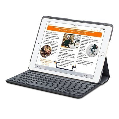Logitech iPad Air 2 Canvas Wireless Bluetooth Keyboard Folio Case - Black