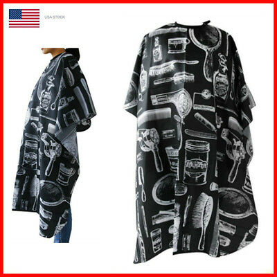 Hair Cutting Cape Pro Salon Hairdressing Hairdresser Gown Barber Cloth Apron USA ()