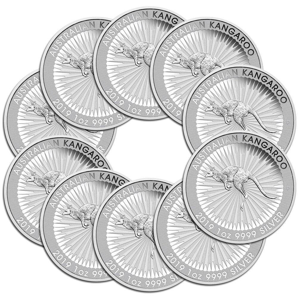 10 x 1 oz Silber Känguru 2019 - 1 Dollar Australien - Silbermünze 999,9