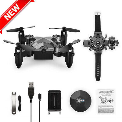 2.4G 4CH 6-Axis WIFI FPV Camera 0.3MP Drone RC Quadcopter Watch Style For Kid BT