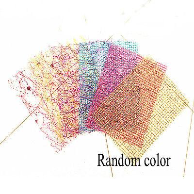 1Sheet Glitter Line 3D Nail Stickers Net Mesh Manicure Decor Tips Art Random Glitter Line