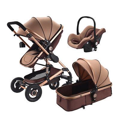 High end Baby Stroller 3 in 1 High Landscape Pram foldable pushchair & Car Seat