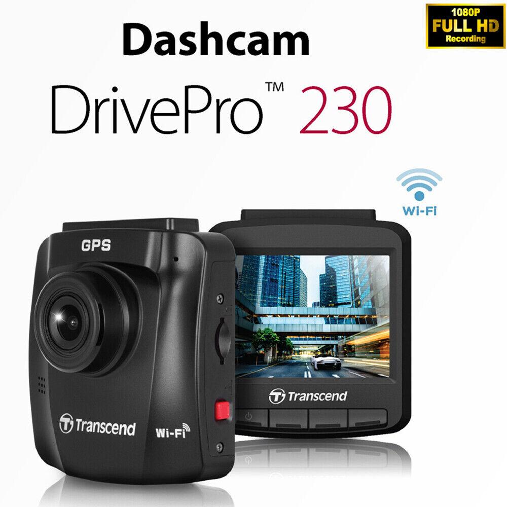Transcend DrivePro 230 1080p HD Wi-Fi GPS Car Dashboard