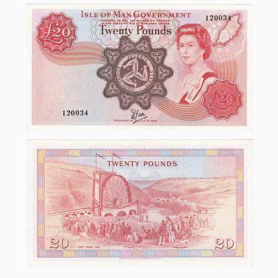 ISLE OF MAN £20 Banknote - P37a - BYB: IM62 - aU/UNC.