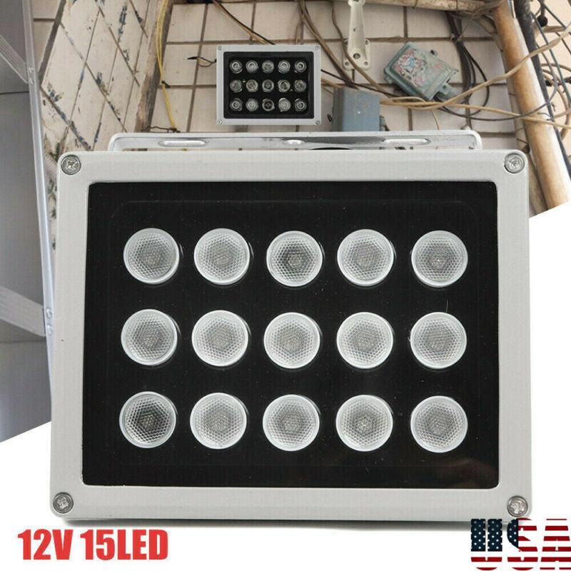 IR Illuminator 15 LED Infrared Security Floodlight For Night Vision CCTV 12V