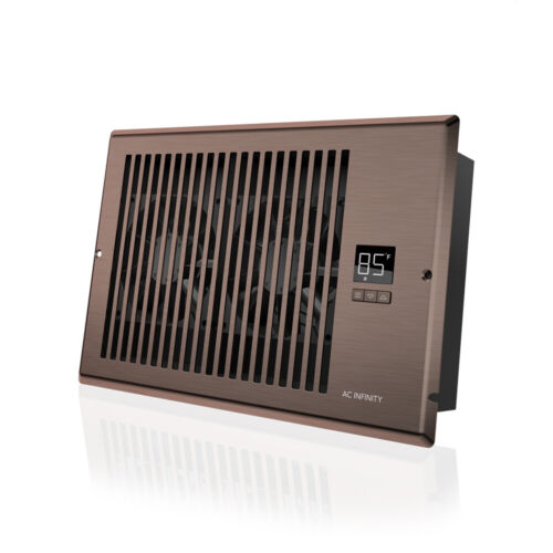 "AIRTAP T6, Quiet Register Booster Fan, Heating / Cooling 6 x 10"" Registers Brown"