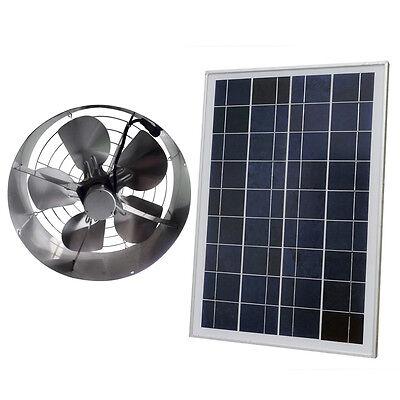 - Solar Power 65W Ventilator Gable Roof Vent Fan W/ 25W Solar Panel for Home Attic