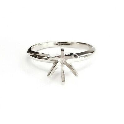 14K White Gold Semi Mount Engagement Ring Solitaire Setting Mounting Diamond 14k Gold Semi Mount Ring