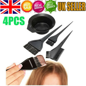 4Pcs/Set Hair Colouring Brush And Bowl Set Bleaching Dye Kit Beauty Comb Tint UK