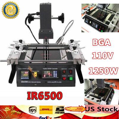 Ir6500 Bga Rework Station Soldering System Infrared Reballing Machine 1250w Kit
