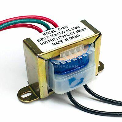 New Philmore 120vac To 12vac 500ma 0.5a Center Tap Power Transformer 6v-0-6v