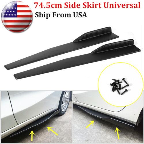 Car Parts - Pair 74.5cm Car Carbon Fiber Side Skirts Rocker Splitters Diffuser Winglet Wings