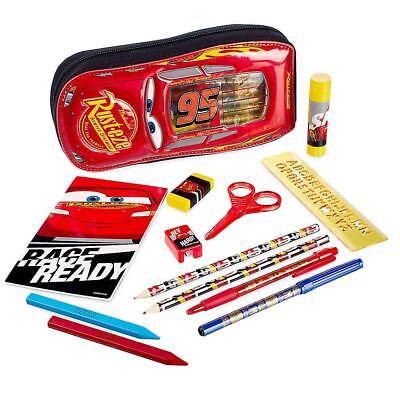 NWT Disney store Cars Lightening McQueen Zip up stationary Kit School Supplies](School Store Supplies)