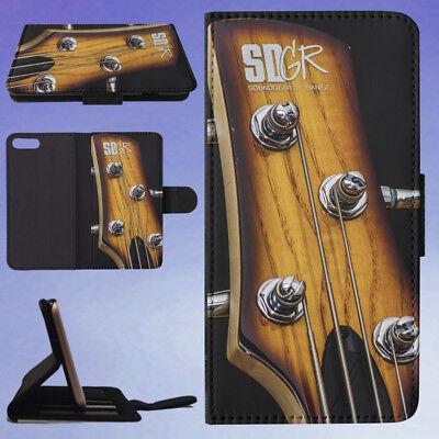Bass Bass Guitar Chrome Flip Wallet Case For Apple Iphone Phones
