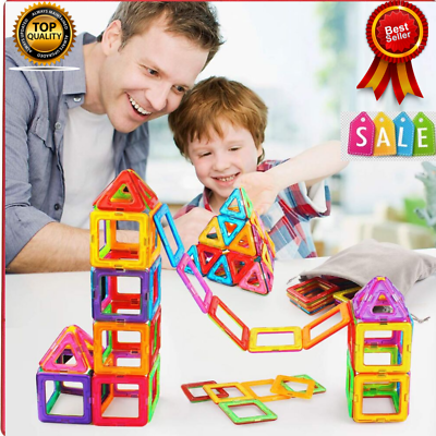 Magna Tiles 76 Pc Educational Game Magnets Building Toy Learning Kids Xmas Gift