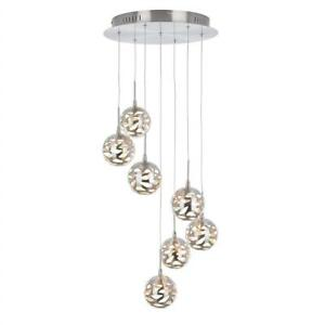 NEW Artika AVE7-SS-HD1 7th Avenue Suspended Indoor Light Fixture, 14-inches with Dimmable Light and a Satin Nickel Fi...
