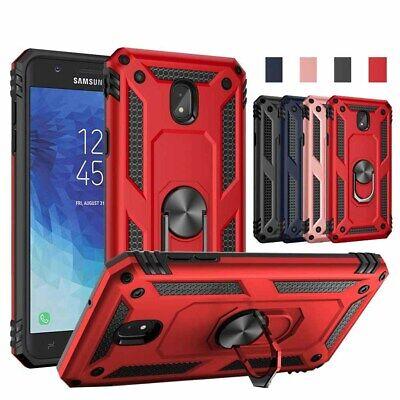 For Samsung Galaxy J7 Crown/J7 V 2018/Refine Case Metal Ring Armor Phone Cover