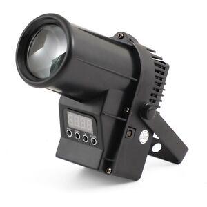 Flash LED Pin Spot 12 Watt RGBW 4in1 CREE DMX Punktstrahler schwarz Spiegelkugel