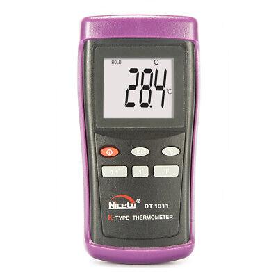 Digital Scientific K-type Thermocouple Thermometer W Wire Probe Sensor Dt1311