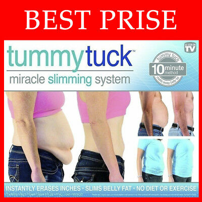 BEST PRICE! Tummy Tuck Belt Miracle Slimming System instantly erases inches