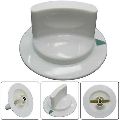 - White Dryer Timer Knob Assembly Part for WE1M652 GE Hotpoint D-Shaft AP3995164