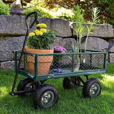 Garden Carts Yard Dump Wagon Cart Lawn Utility Cart Outdoor