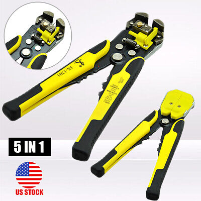 5in1 Multi-use Automatic Wire Stripper Cutter Crimper Cable Terminal Pliers Tool