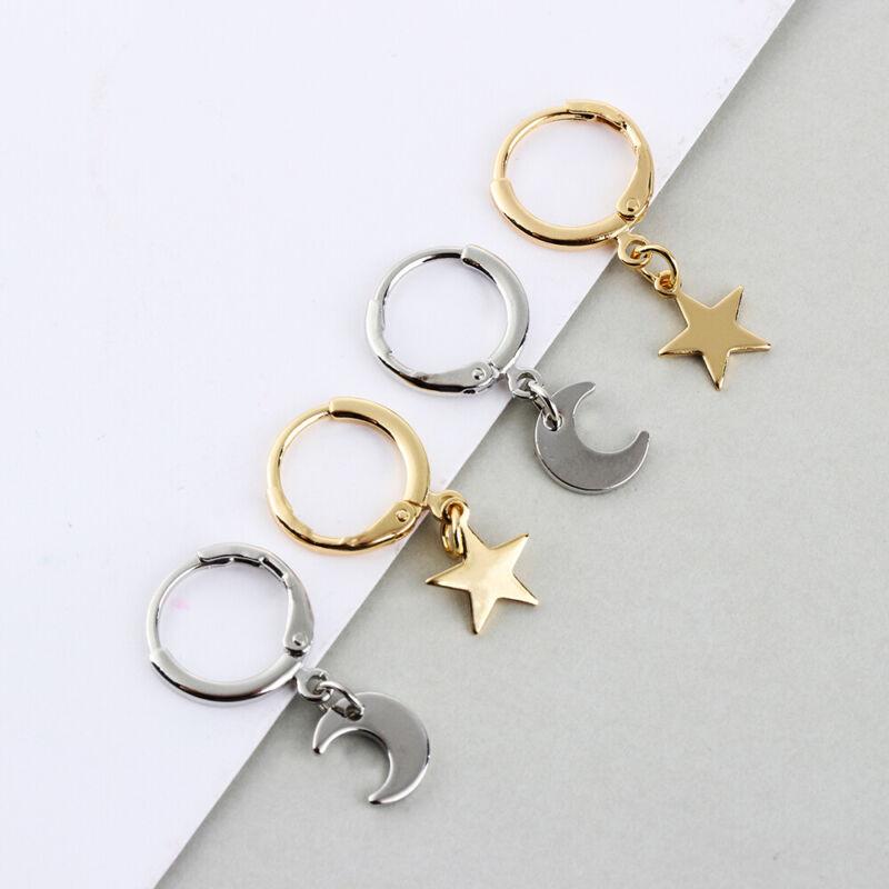 Jewelry Women Ear Piercing Huggie Hoop Earring Ear-cuffs Small Star Charms
