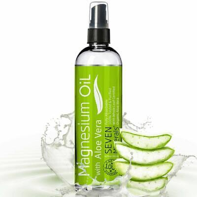 12oz Magnesium Oil with ALOE VERA - Get Healthy Hair & Skin and Sleep (Best Hair Oil Sprays)