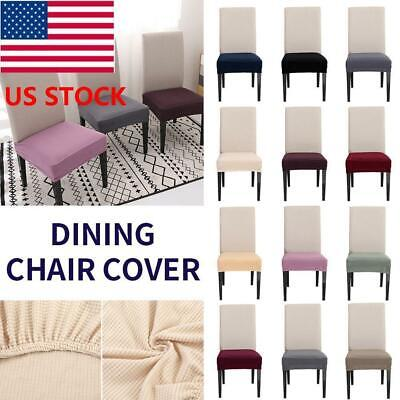 US Dining Room Chair Covers Stretch Slipcovers Wedding Banquet Decor Seat (Dining Room Seating)