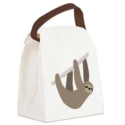 sloth canvas lunch bag with strap handle