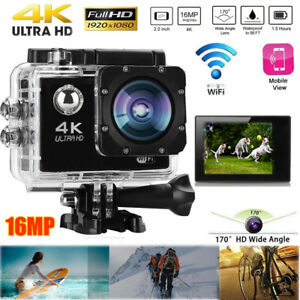 4K 2'' Ultra HD 1080P Sport WiFi Cam Action Camera DV Video Recorder 16MP Go Pro