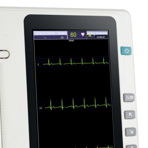 NEW TOUCH ECG EKG MACHINE 3 CHANNEL 12 LEAD ELECTROCARDIOGRAPH HOSPITAL MACHINE