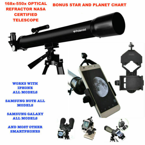 """525X TELESCOPE FULL 57"""" TRIPOD LUNAR AND FOR STAR OBSERVATION + SMARTPHONE MOUNT"""