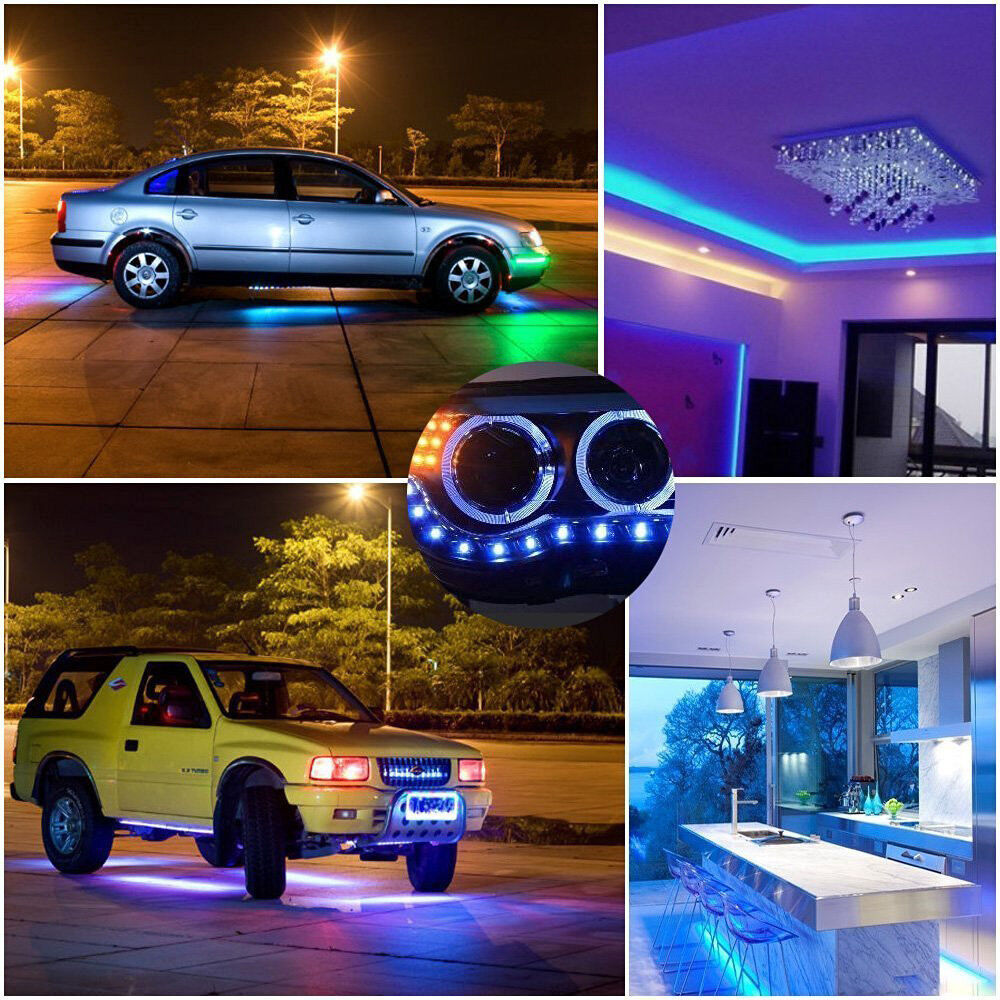 StripSun LED Strip Lights SMD 5050 IP65 Waterproof 16.4ft RGB Color 300 LED Lamp