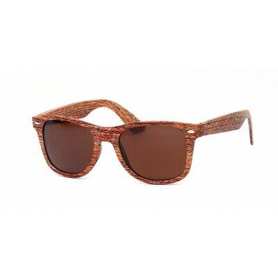 Wayfare Style Faux Wood Frame Unisex Sunglasses NEW with (Wood Frame Wayfarer Sunglasses)