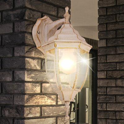 Lámpara Exterior Puerta Casa Iluminación de Pared Aluminio Farola Cristal Jardín