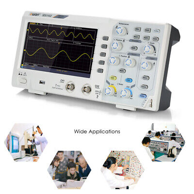 Owon Sds1102 Lcd Portable Digital Storage Oscilloscope 2ch 100mhz 1gss X6h6