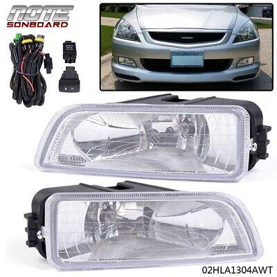 For 2003-2007 Honda Accord TL 4DR Sedan Clear Bumper Driving Fog Lights LH RH