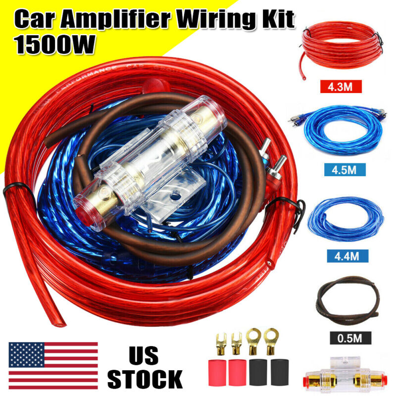 Car Audio 8 Gauge Cable Kit Amp Amplifier Install RCA Subwoofer Sub Wiring USA