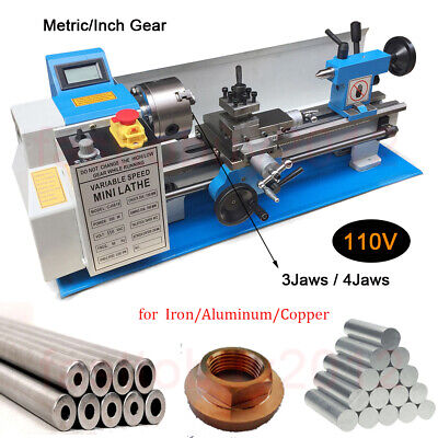 Upgrade 550w Mini Metal Lathe 7x12 Benchtop Metalworking Metricinch Gear 110v