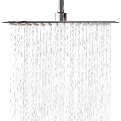 304 Stainless Steel Top - Solid Square Ultra Thin 304 Stainless Steel 8 Inch Rain Shower Head Top Sprayer