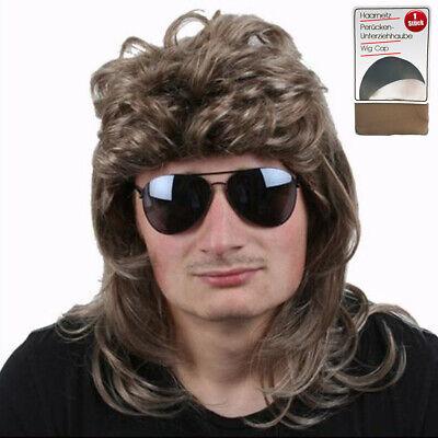 80er Jahre Herren Perücke Vokuhila blond Karneval Fasching - Blonde Herren Perücke