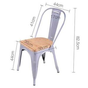 Set of 2 Replica Tolix Dining Metal Chair Bamboo Seat Gloss Metal Brisbane City Brisbane North West Preview