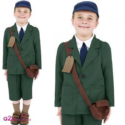Boys Child Evacuee Boy Costume World War II Book Week Fancy Dress Outfit WW2