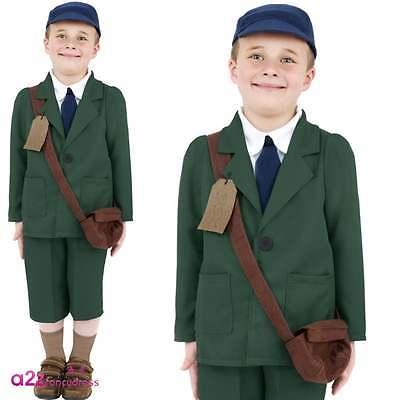 Boys Child Evacuee Boy Costume World War II Book Week Fancy Dress Outfit WW2