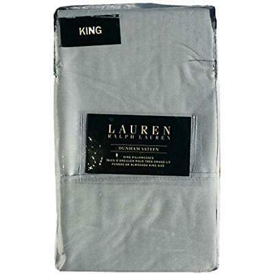 Set Of 2 Ralph Lauren Dunham Sateen King Size Pillowcases Si