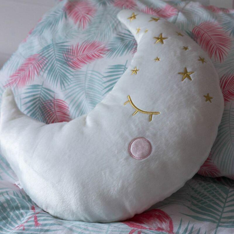 White Moon Pillow Cushion - Childrens Nursery Decoration