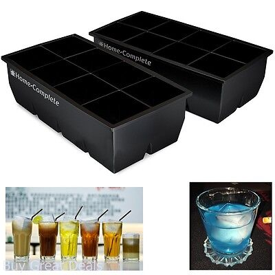 Best Ice Cube Trays 2 Large Silicone Pack 16 Giant 2 Inch Ice Cubes Molds