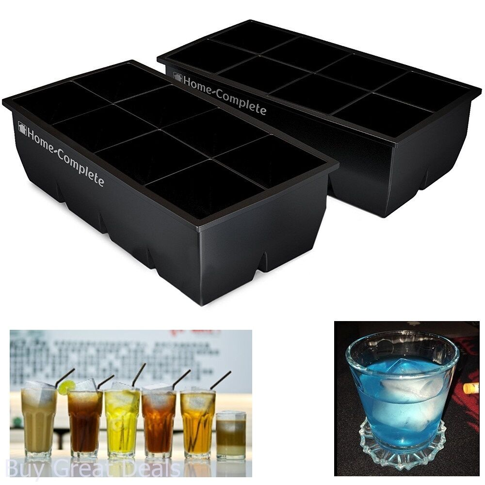 Best Ice Cube Trays 2 Large Silicone Pack 16 Giant 2 Inch Ic